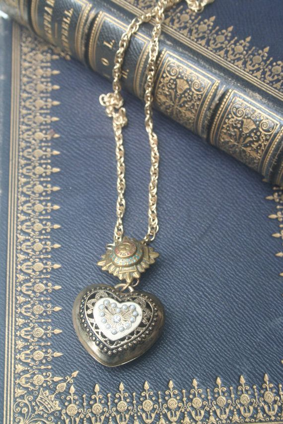 ex voto heart ex voto necklace Heart pendant ex by IRISHTREASURE