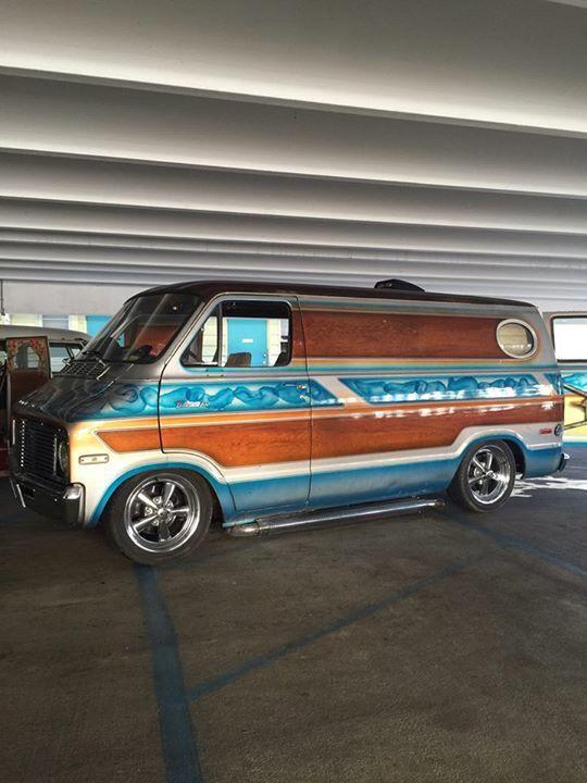 Vintage custom 70's Dodge van..vk