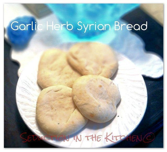 Garlic Herb Syrian Bread, a recipe from Seduction in the Kitchen