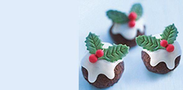 Elizabeth Shaw Amaretto Chocolate Truffles with festive holly leaves