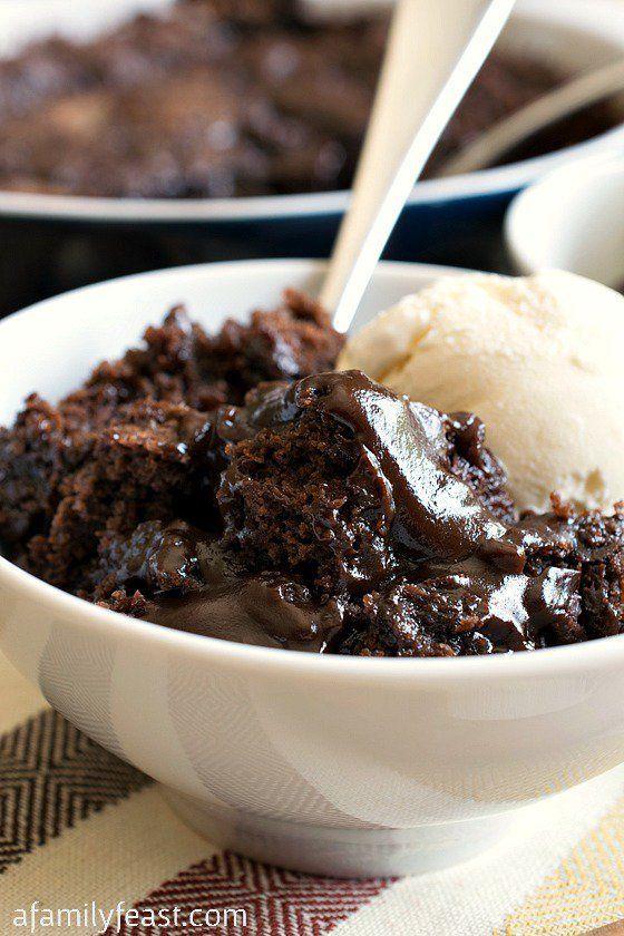 Hot Fudge Pudding Cake by a familyfeast #Pudding_Cake #Chocolate