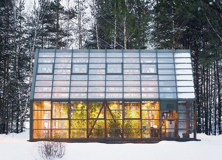 Elegant Pirogovo Greenhouse Nurtures Organic Greens and Vegetables ...
