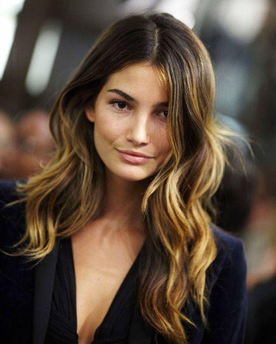 highlights for dark hair | highlights hair | Partial Caramel Highlights For Dark Hair ...