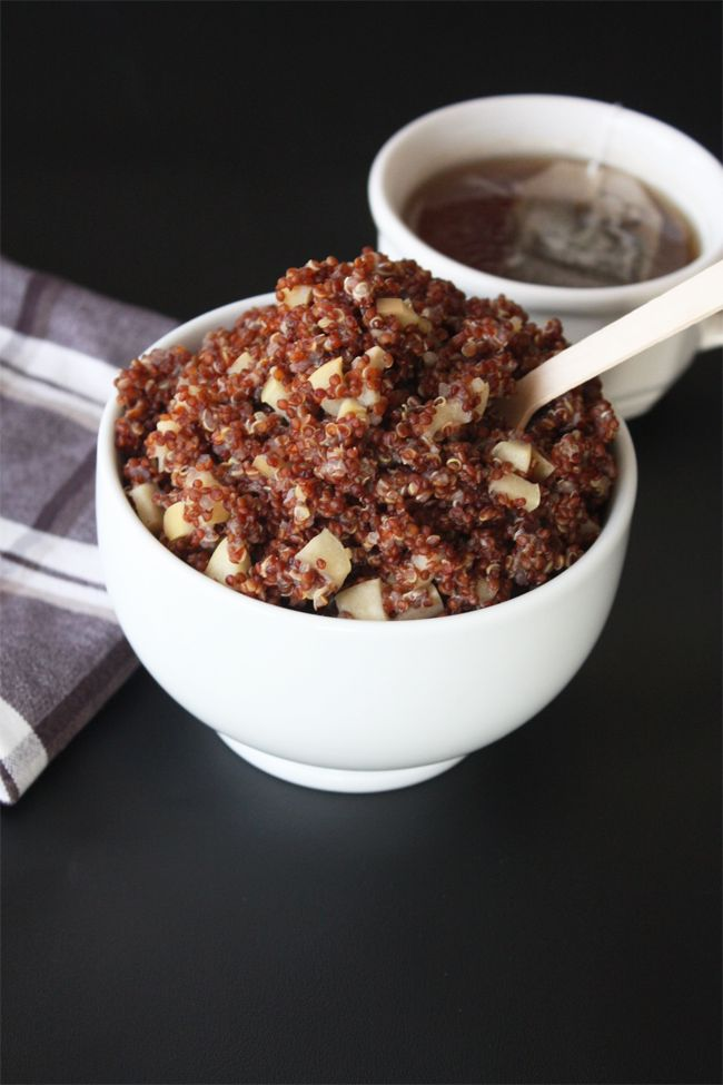 Apple Cinnamon Breakfast Quinoa | Omm Nom Noms | Pinterest