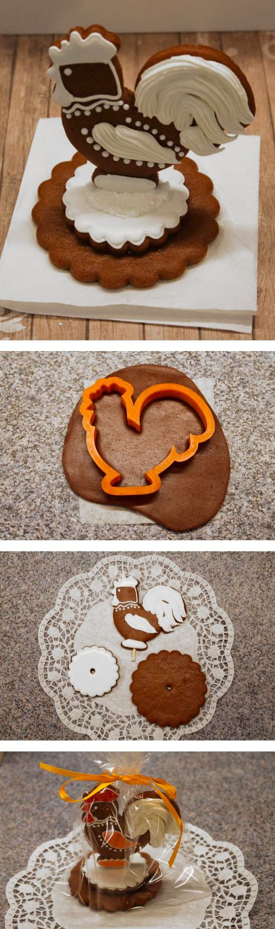 How to make gingerbread 3D souwenir. Click on image to see step-by-step tutorial