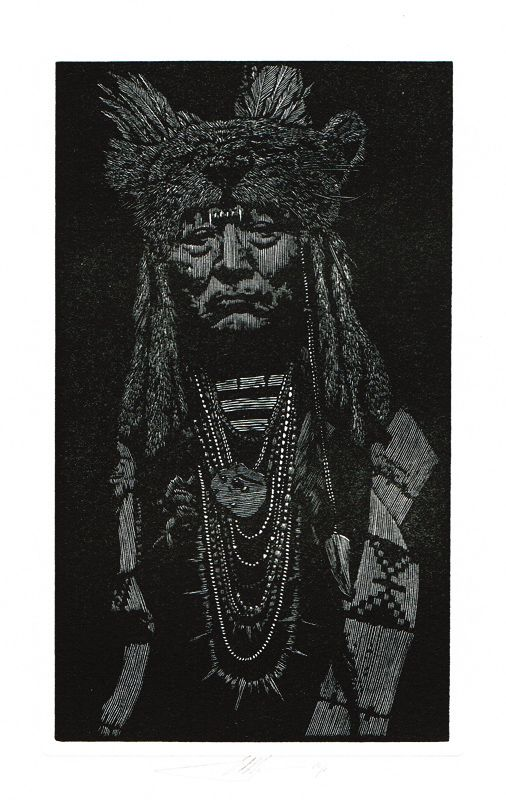 "Barry Moser's ""The Indian in the Leopard Mask"" from The Robber Bridegroom 