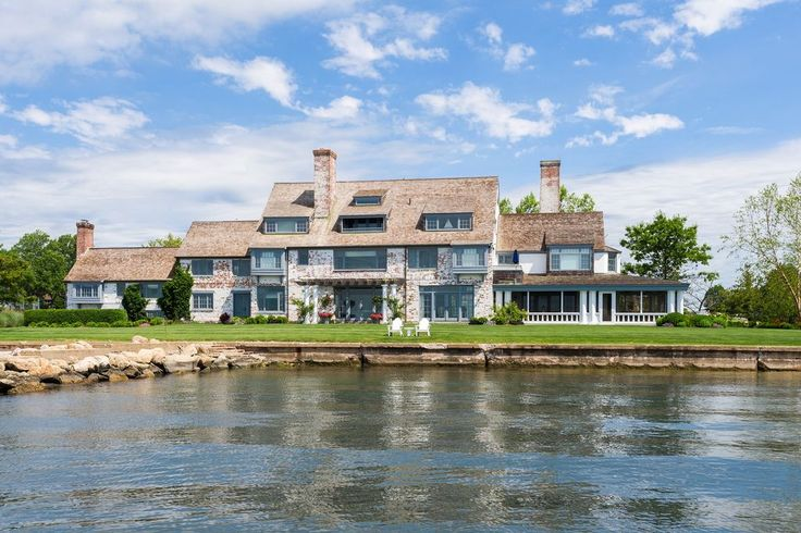 """For sale: $11,800,000. Katharine Hepburn's former Fenwick Estate """"Paradise"""" set on Long Island Sound and built in 1939. In 2005 it was seamlessly renovated to create light-filled rooms while preserving the historical integrity of 8,400sqft of living space on three floors, with six bedrooms suites and seven gas fireplaces. On the Eastern tip of Fenwick 1.5 acres overlooking LI Sound, a private pond, includes 220ft of frontage with a private dock. The gourmet kitchen features: cu..."""
