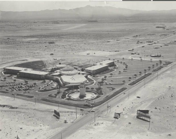 Aerial photograph of the Tropicana Hotel resort (Las Vegas), 1957