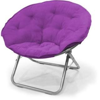 Purple Microsuede/Metal Large Contemporary Saucer Chair - 20345407 - Overstock.com Shopping - Great Deals on Kids' Chairs