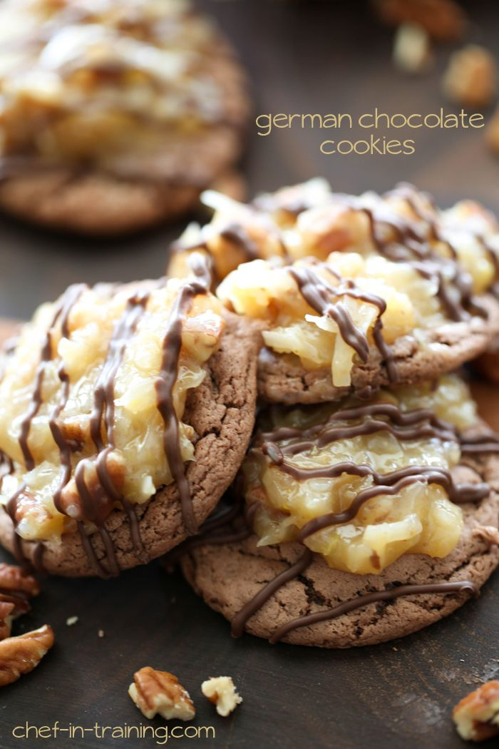 German Chocolate Cookies... these are SO easy and SO delicious! The frosting is AMAZING!