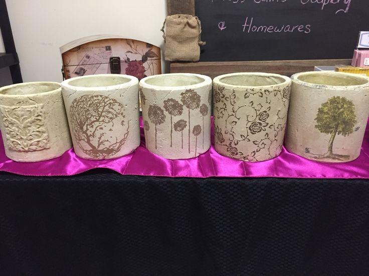 Decor pots filled or unfilled