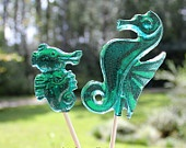Seahorse Favors Birthday Baby Shower Hard Candy Barley Sugar Lollipops Gifts Seahorses Favors The Little Mermaid Party. $17.99, via Etsy.