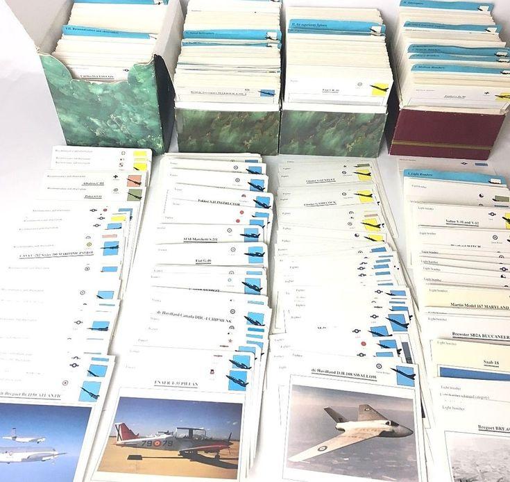 ~3000 EDITO Atlas Warplanes Aircraft Collectors Cards Huge Lot Bombers Seaplanes