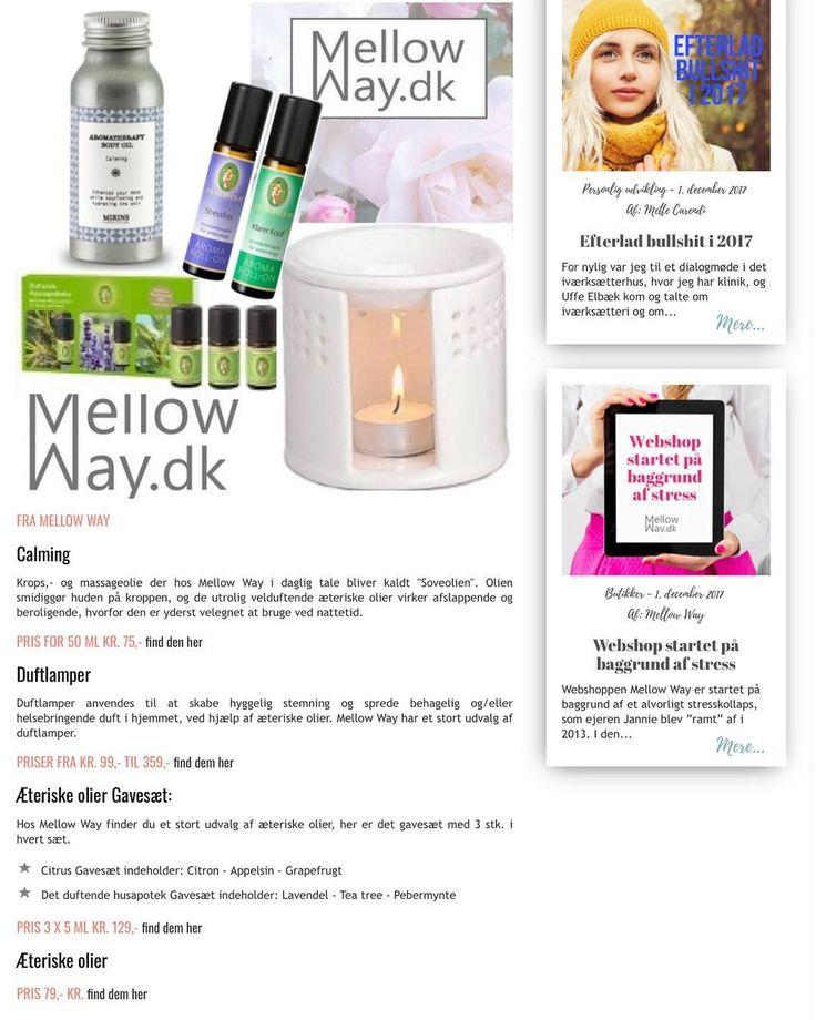 """Mellow Way er så fint repræsenteret i online magasinet @moola.dk i denne måned med """"Årets julegaver 2017"""" og en fin lille artikel TAAAK #moola.dk Hvis du ikke kender magasinet i forvejen så skynd dig at finde det på nettet der er så mange gode artikler hver måned -og kig selvfølgelig forbi Mellow Way når der skal shoppes julegaver #webshop #julegaver #gaveideer #adventsgave #artikelomstress #stress #stressfri"""