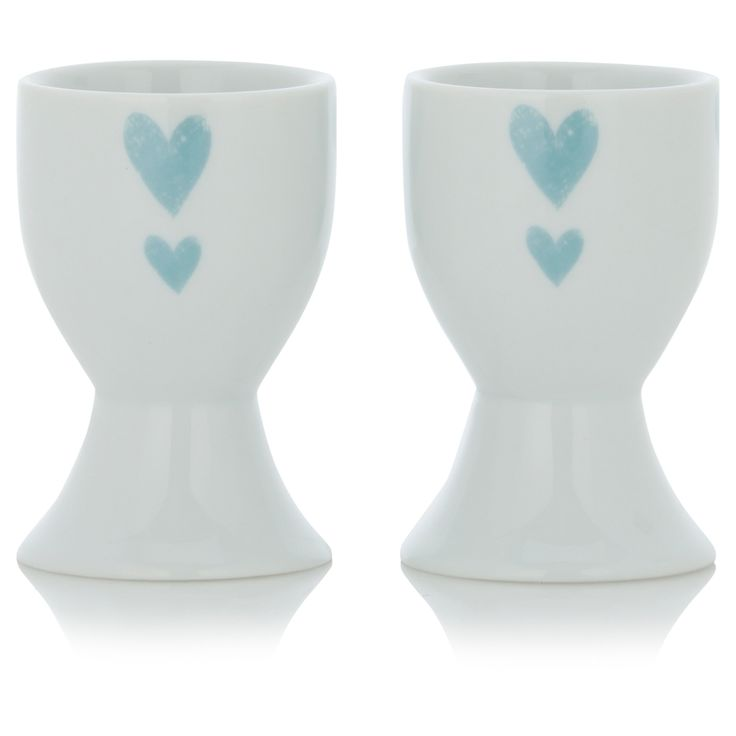 George Home Set Of Two Hearts Egg Cups Serving Accessories Asda Direct George Home Serving Accessories Egg Cups