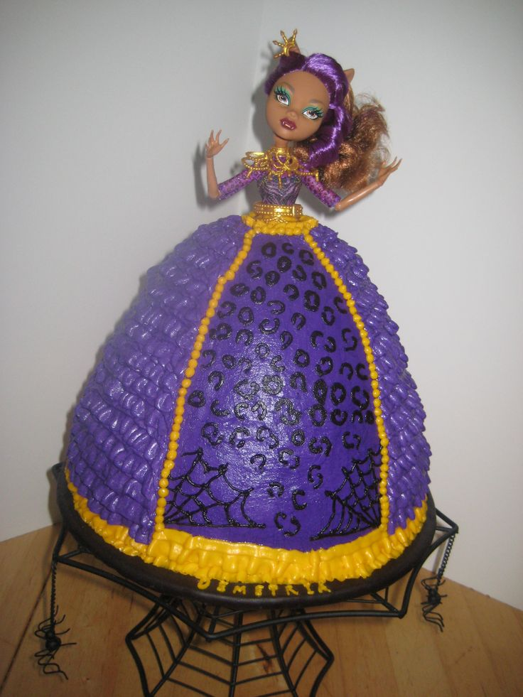 Monster High Clawdeen Wolf Doll Cake That I Made For My