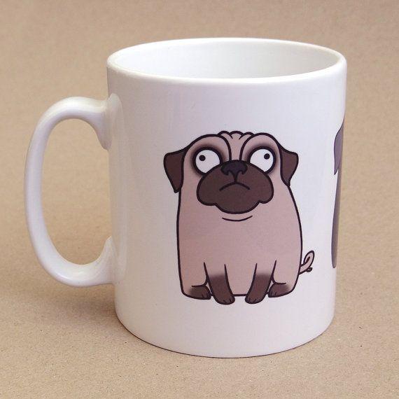 Pug Mug by creaturekebab on Etsy, £12.00