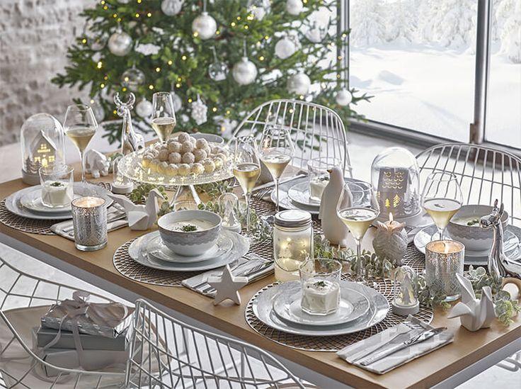 Collection White : Idées déco table, sapin et maison pour Noël