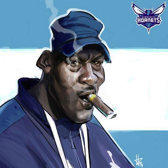Michael Jordan 'Big Bad Boss' Caricature Art