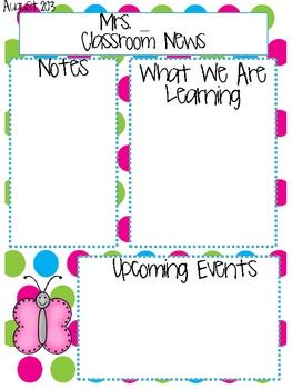 1000+ ideas about Teacher Newsletter Templates on Pinterest ...