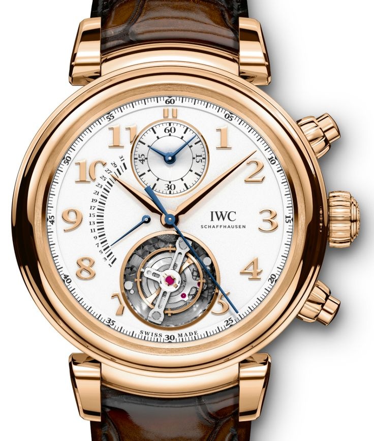 "Bringing the round case back and much more. One of IWC Schaffhausen most neglected collections is getting an update, it is of course the Da Vinci collection. Presenting the  IWC Da Vinci Tourbillon Rétrograde Chronograph. Here we have a flying ""hacking"" tourbillon, where by the pull of the crown you stop the tourbillon/seconds... Read all about it at: http://www.ablogtowatch.com/iwc-da-vinci-chronograph-da-vinci-tourbillon-retrograde-watches/"