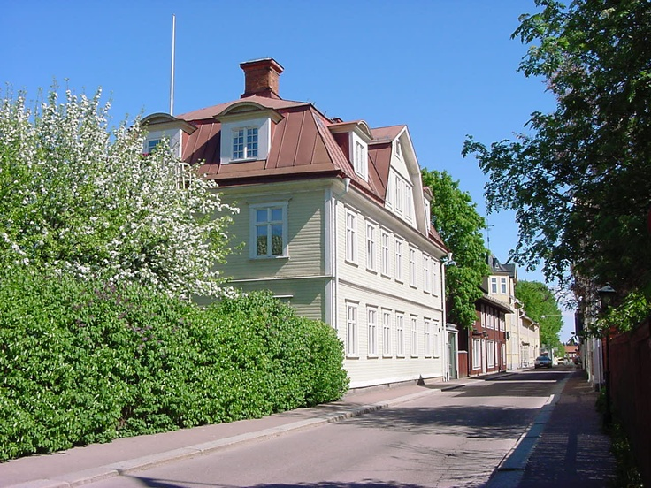 Storgatan i grönska.