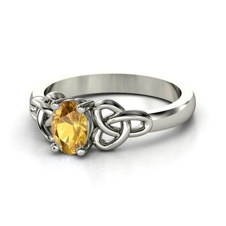 Pascia citrine and diamond ring - Metallic G8PDb4x4