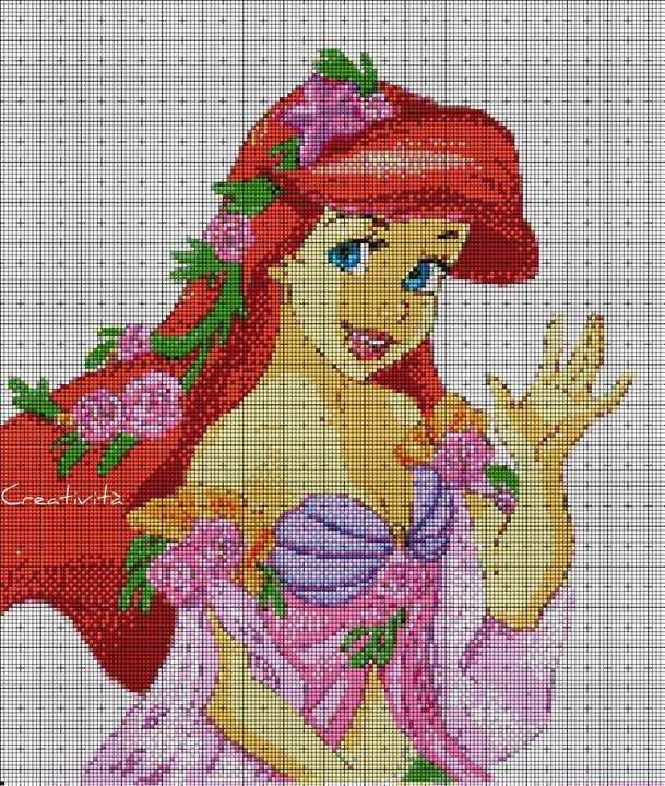 17 best images about cross stitch disney princesses for Immagini disney punto croce