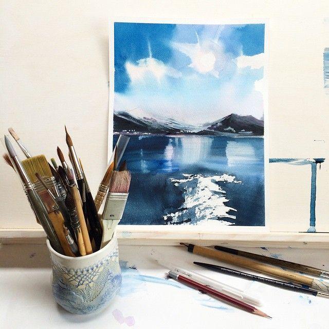 Мастер-класс Вероники Калачевой «Как перестать бояться акварели и начать рисовать. Пейзаж». Блог школы рисования