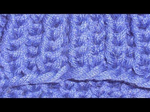 Socken stricken * Sockenkurs #5 * Bündchen Patentmuster zweifarbig in Runden - YouTube