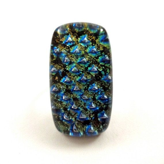 RG14  Exclusive fused dichroic glass ring by VerreArts on Etsy