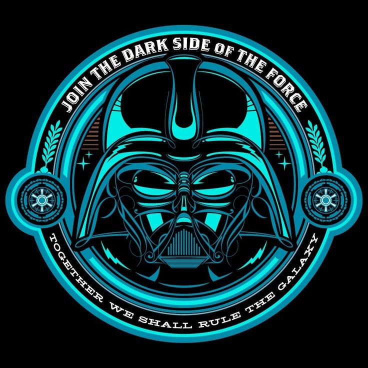 DARK SIDER starwars darkside poster darthvader vector