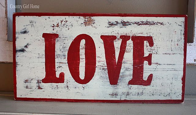 Wooden Sign Tutorial for Valentine's Day