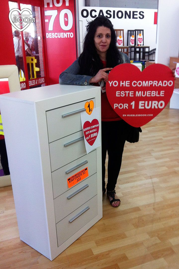 Gran promoci n de muebles a 1 euro de muebles boom en for Muebles boom madrid