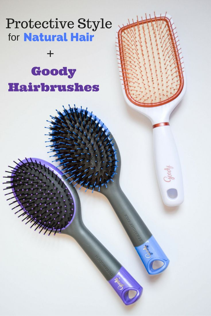 Protective Style for Natural Hair + Goody Brushes - LivingLesh // A quick tutorial on how to style your natural hair #collectivebias #goodybrushEd #ad