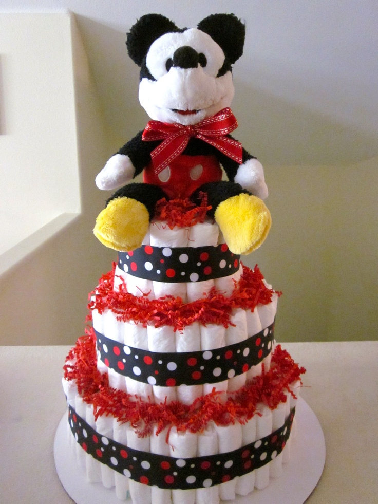 mickey mouse diaper cake more diaper cakes baby nappy cake diaper