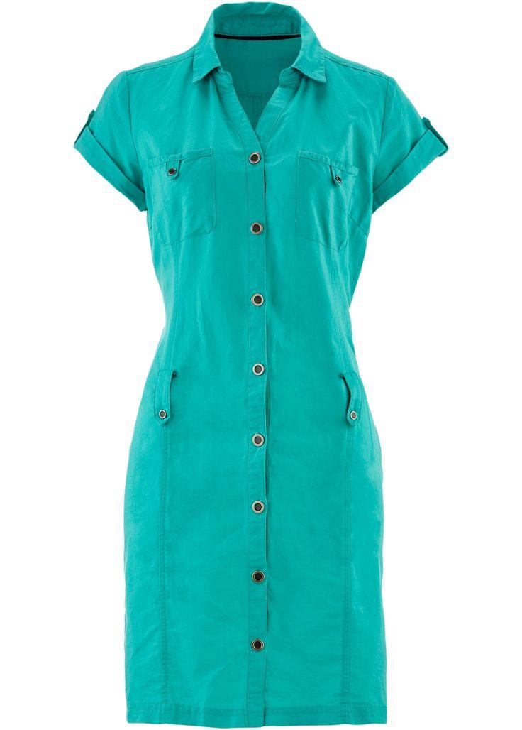 Leinen-Kleid smaragd - bpc bonprix collection jetzt im Online Shop von…