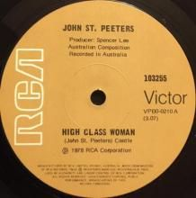 HIGH CLASS WOMAN / KEEP ME UP GIRL | JOHN ST. PEETERS | 7 inch single | music4collectors.com