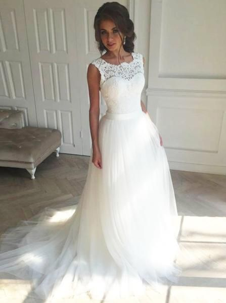 c983308a959 White Wedding Dresses Romantic