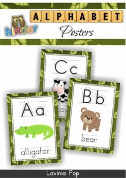 FREE Jungle Alphabet Posters with Correct Letter Formation.