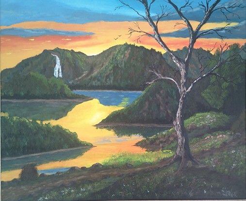 Nr. 16. april 2016 Acrylics on canvas. Idea from J.M. Lisdondra