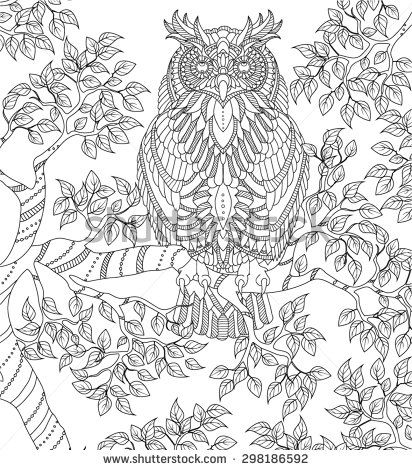 owls art therapy coloring pages - Pesquisa Google