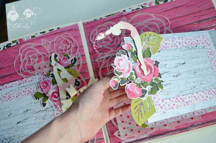 Конфетно-цветочный альбом для девочки / Candy and flower scrap album