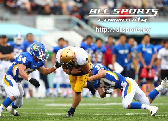 4/21 関西学院大学vs明治大学   ご提供:フォトクリエイト  こちらの写真はhttp://allsports.jp/event/americanfootball.htmlにてお求めになれます。