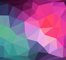 Pink Green Blue Fun Funky Geometric Triangles by owlHouseINK