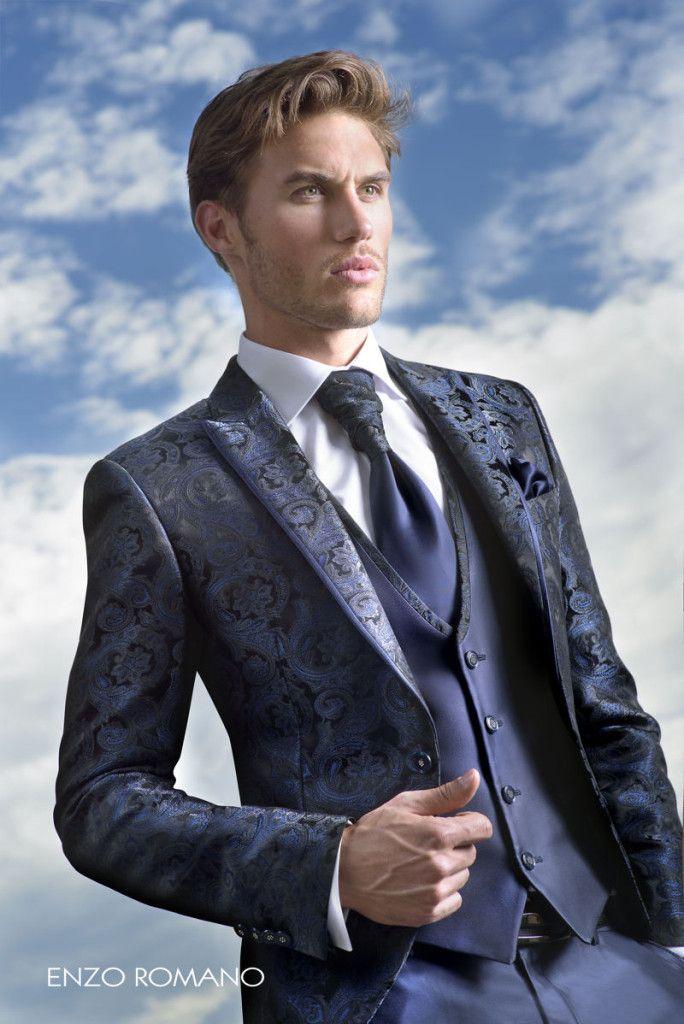 Exclusivo traje de novio de Enzo Romano. Descubre dónde puedes encontrarnos en www.enzoromano.com