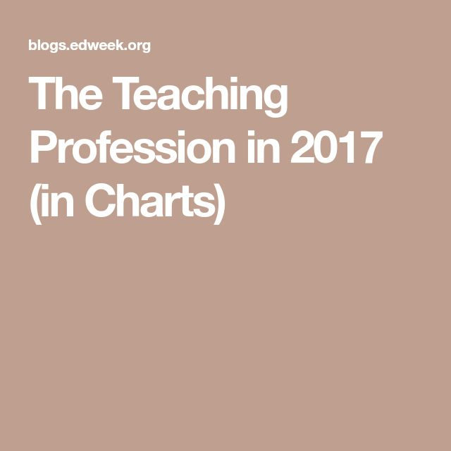 The Teaching Profession in 2017 (in Charts)