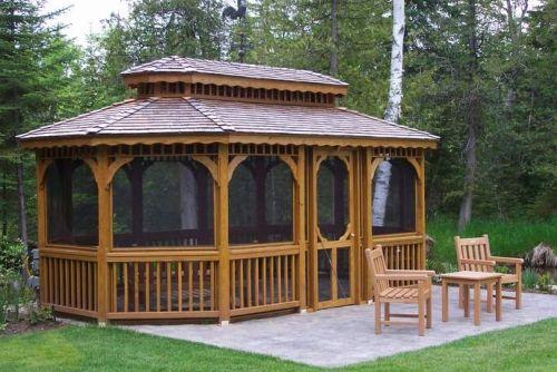 outdoor metal gazebo screen houses 3