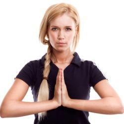 žena meditácia