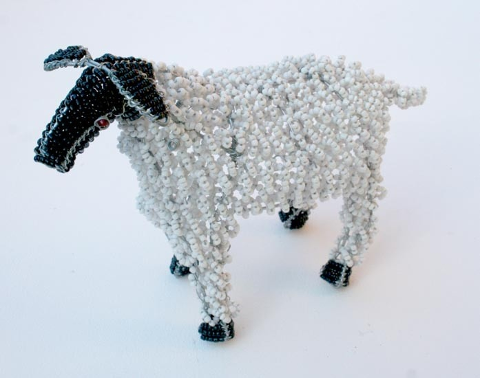 Beaded sheep curio from Africa